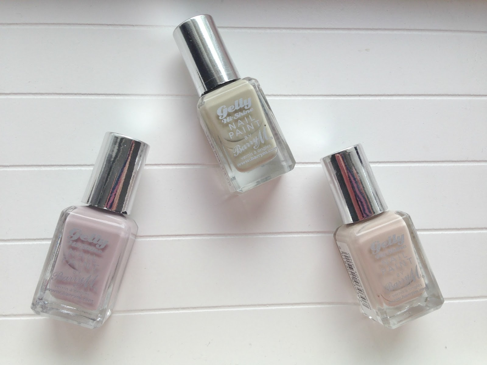 barry m gelly polishes nude lychee almond olive