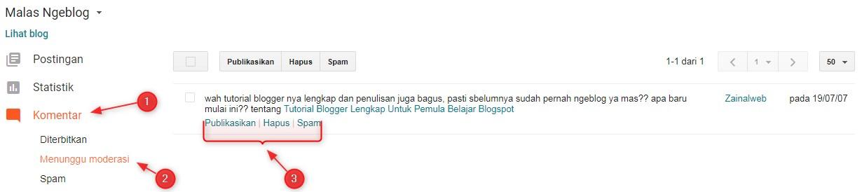 moderasi,komentar,blog,blogspot,blogger