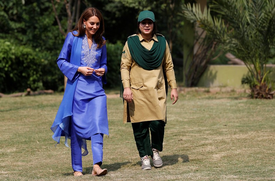 The Duchess of Cambridge takes a tour of the Margalla Hills National Park