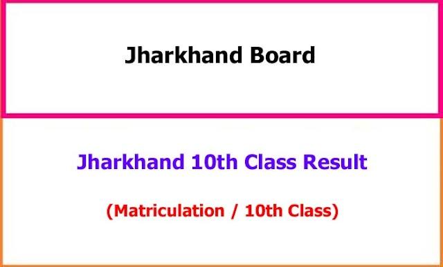 Jharkhand JAC Matric (10th Class) Exam Result 2021