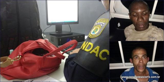 Guardas Municipais de Aracaju prendem suspeitos de assaltos