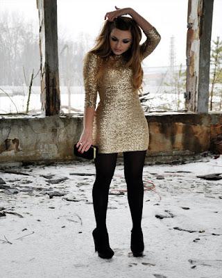 outfit de invierno con medias largas