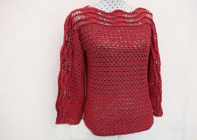 3 - Crochet Imagen Blusa verde a crochet y ganchillo muy facil sencilla paso a paso por Majovel Crochet