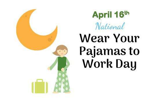 Wear Pajamas to Work Day Wishes For Facebook