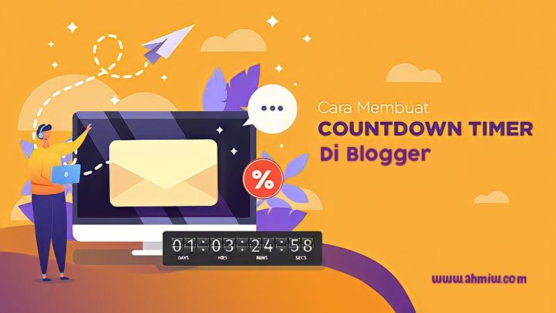 Cara menambahkan tombol countdown timer di blog