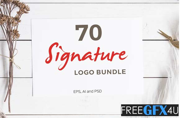 70 Signature Logo Pack