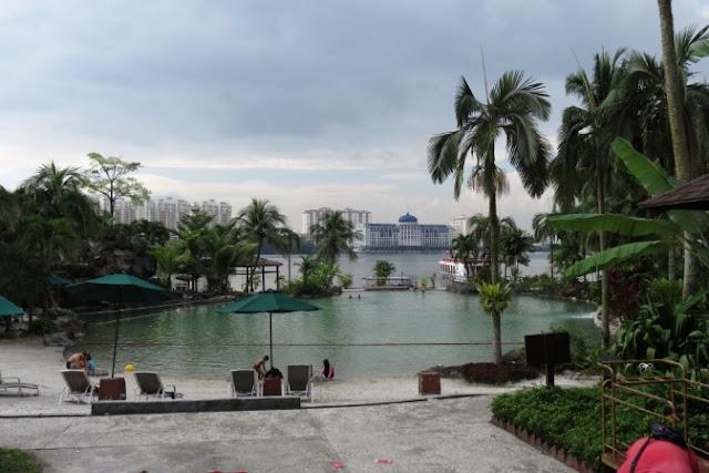 swimming pool and lake hotel