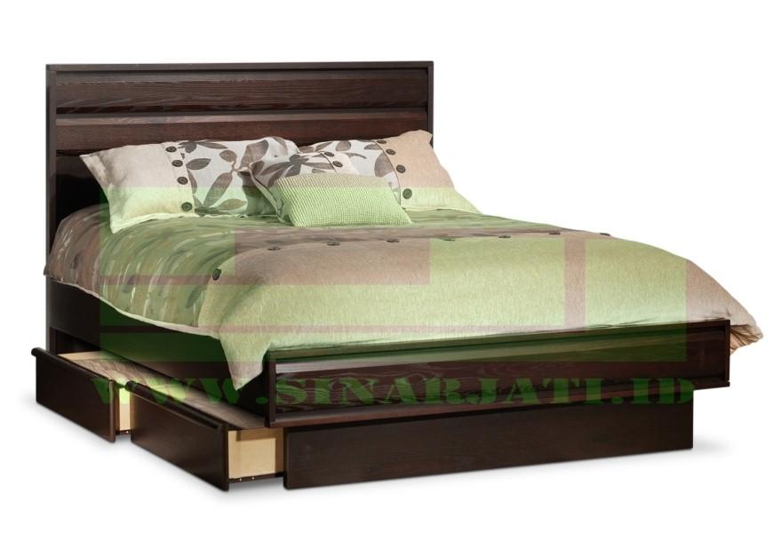 model tempat tidur dengan laci 3