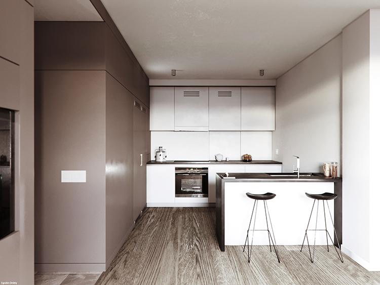 Small kitchen design by Dmitriy Egoshin