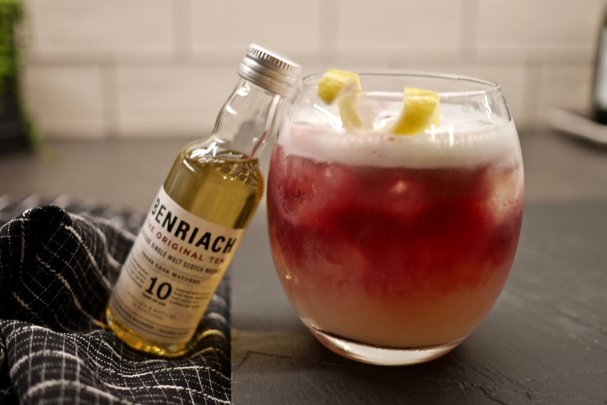 benRiach whisky sour cocktails, by calmctravels