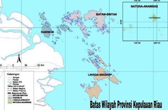 Batas Wilayah Provinsi Kepulauan Riau (Kepri)