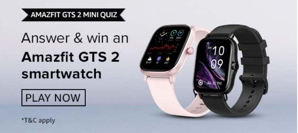 Amazon Amazfit GTS 2 Mini Quiz Answers