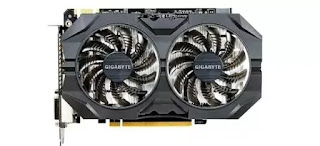 Gigabyte Geforce GTX 950 2 GB graphics card.
