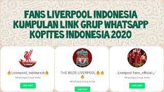 Link grup whatsapp kopites 2020