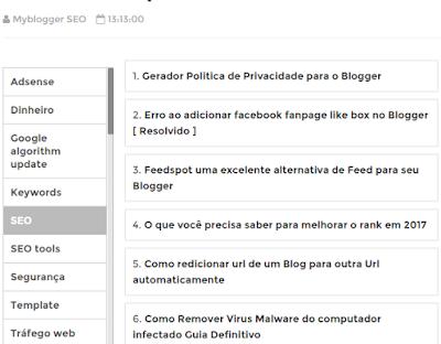 Novo Sitemap modelo tabela para Blogger
