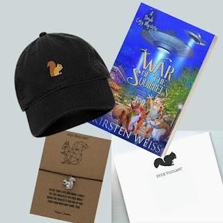 image of giveaway prizes described below