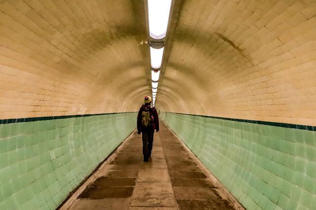 Inside the Pedestrian Tyne Tunnel, a 12 mile walk, mandy charlton, photographer, writer, blogger
