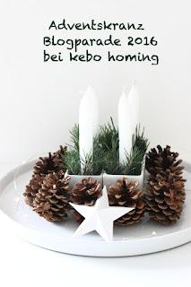 Adventskranz aus Tannenzapfen, Adventskranz-Blogparade 2016, cleane schlichte einfache Adventdekoration beim Südtiroler Food- und Lifestyleblog kebo homing