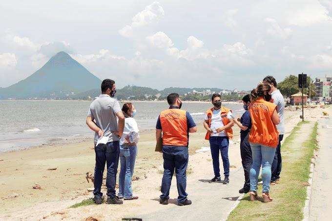 Defesa Civil Estadual apoiará processo de contenção de erosão marinha na orla