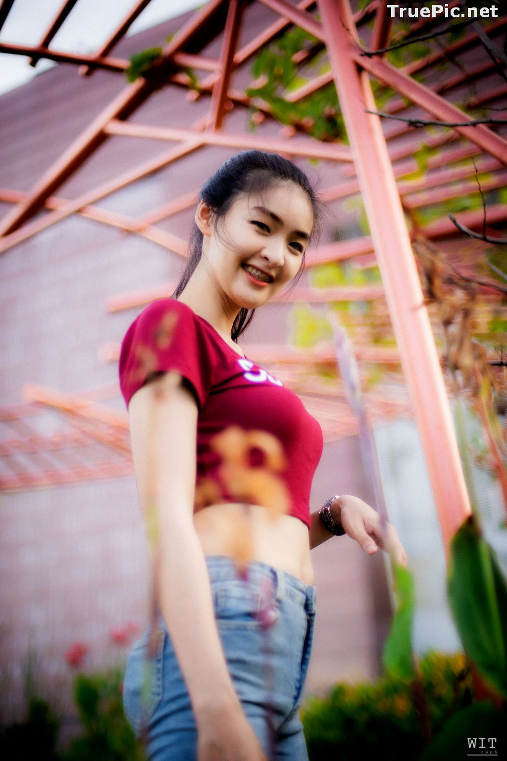 Image Thailand Model - Muay Phinitnan - Supreme Crop Tops and Jeans - TruePic.net - Picture-4