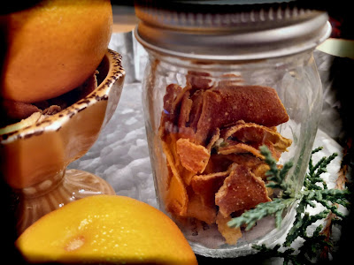 DIY dried citrus peel christmas gifts recipes