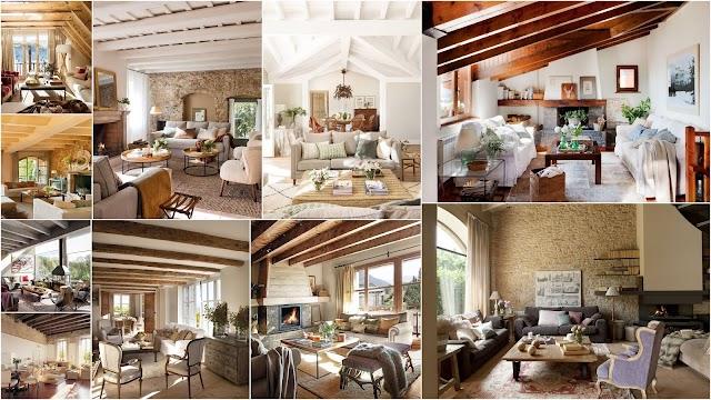 20 Ρουστίκ σαλόνια με πολύ ιδιαίτερα αρχιτεκτονικά χαρακτηριστικά