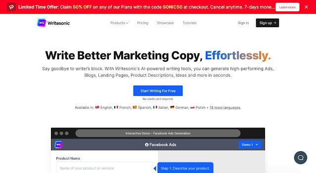 writesonic best copywriting software