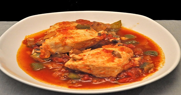 Skillet Chicken With Peppers Recipe