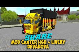 Mod Truck Canter HSD Terpal Kotak Bussid