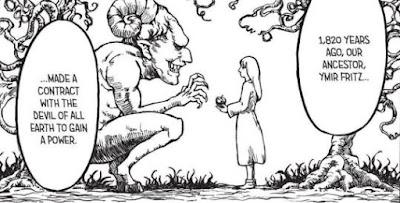 Ymir firts dengan iblis