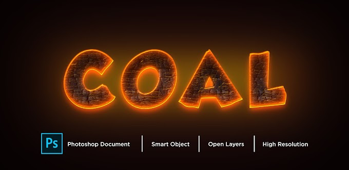 Coal Text Effect PSD