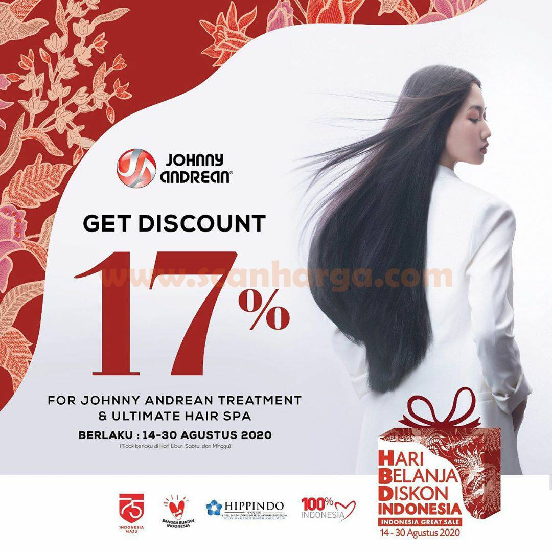 Promo Jhonny Andrean Salon Diskon 17% - Johnny Andrean Special Treatment dan Ultimate Hair Spa*