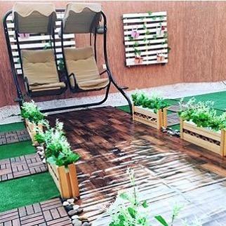 تنسيق حديقة سطح المنزل بالمدينة المنورة