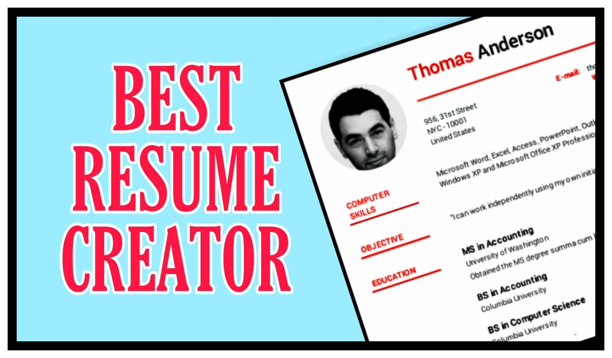 Free Resume Maker online Download for freshers