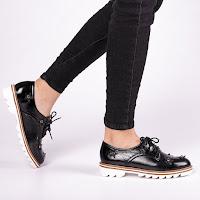 Pantofi casual de dama negri foarte ieftini