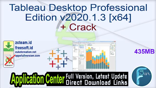 Tableau Desktop Professional Edition v2020.1.3 [x64]+ Crack_ ZcTeam.id