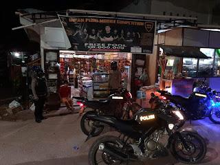 Patroli Blue Light Personel Polsek Curio Naik Motor Pantau Wilayah Pelosok Desa