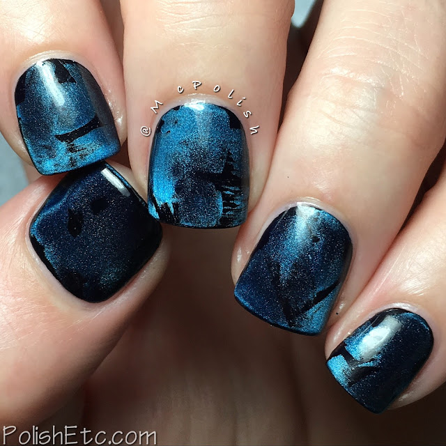 Blue Nails for the #31DC2016Weekly - Masura magnetic manicure - McPolish