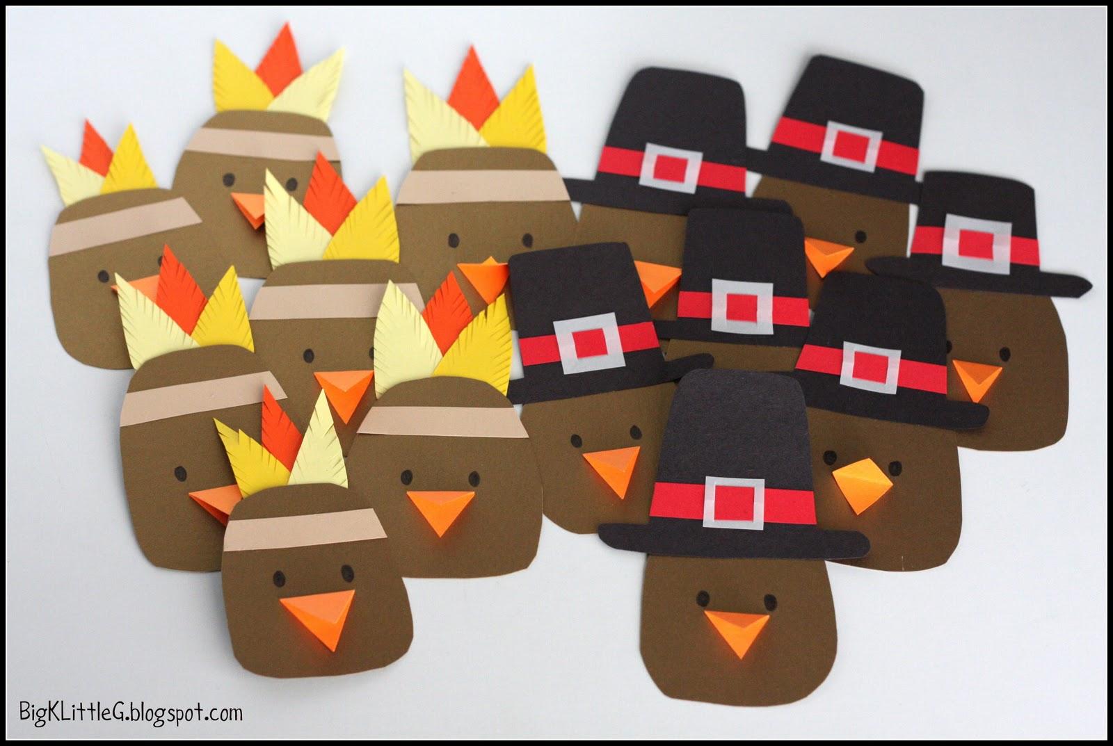 Big K Little G Thanksgiving Pilgrim And Indian Turkey