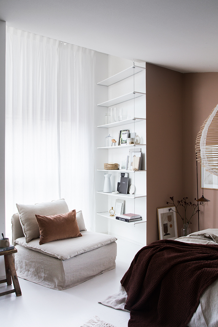 cozy bedroom. Cozy Bedroom With A Warm Muted Palette In The Home Of Niki Brantmark. Styling By