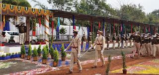 पुलिस महानिरीक्षक जबलपुर जोन ने किया पुलिस लाईन्स जबलपुर का वार्षिक निरीक्षण