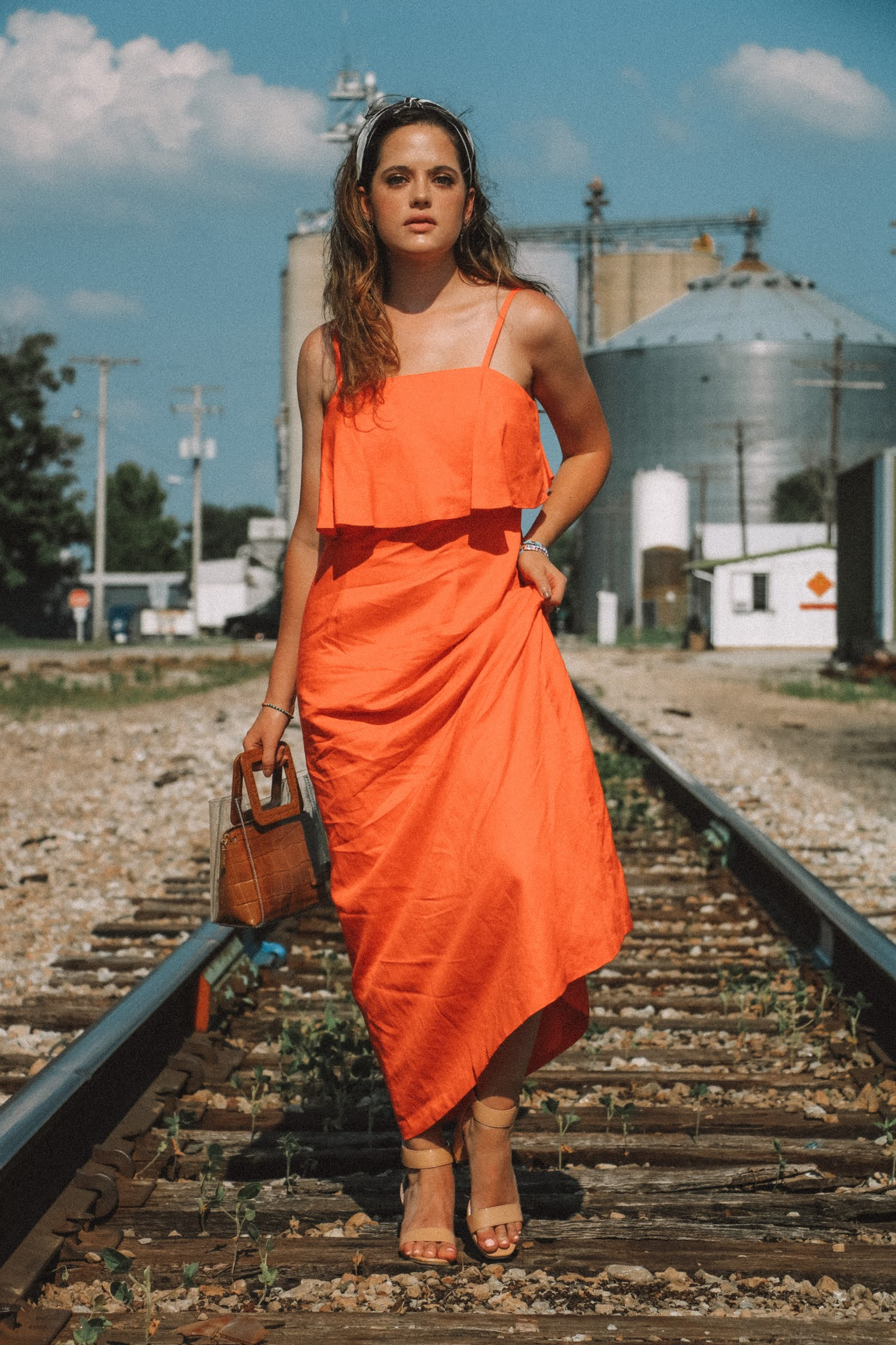 Fashion influencer Kathleen Harper wearing summer dress
