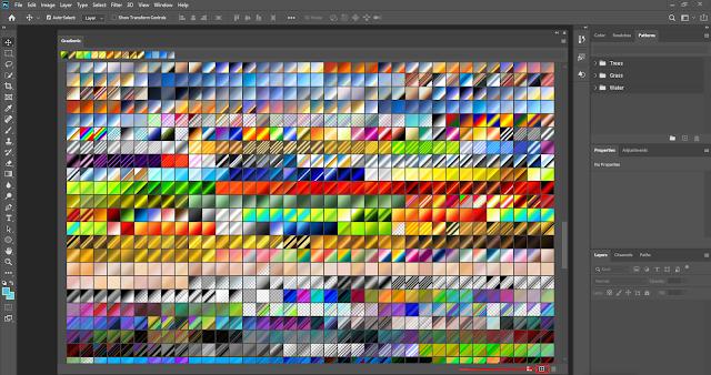 إضافة التدرجات اللونية داخل برنامج الـ Photoshop