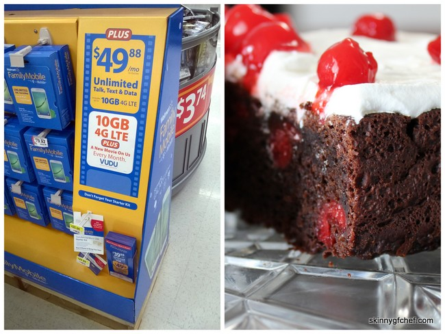 Saving money with Walmart Family Mobile Plus and my NEW Gluten-Free Black Forest Cake