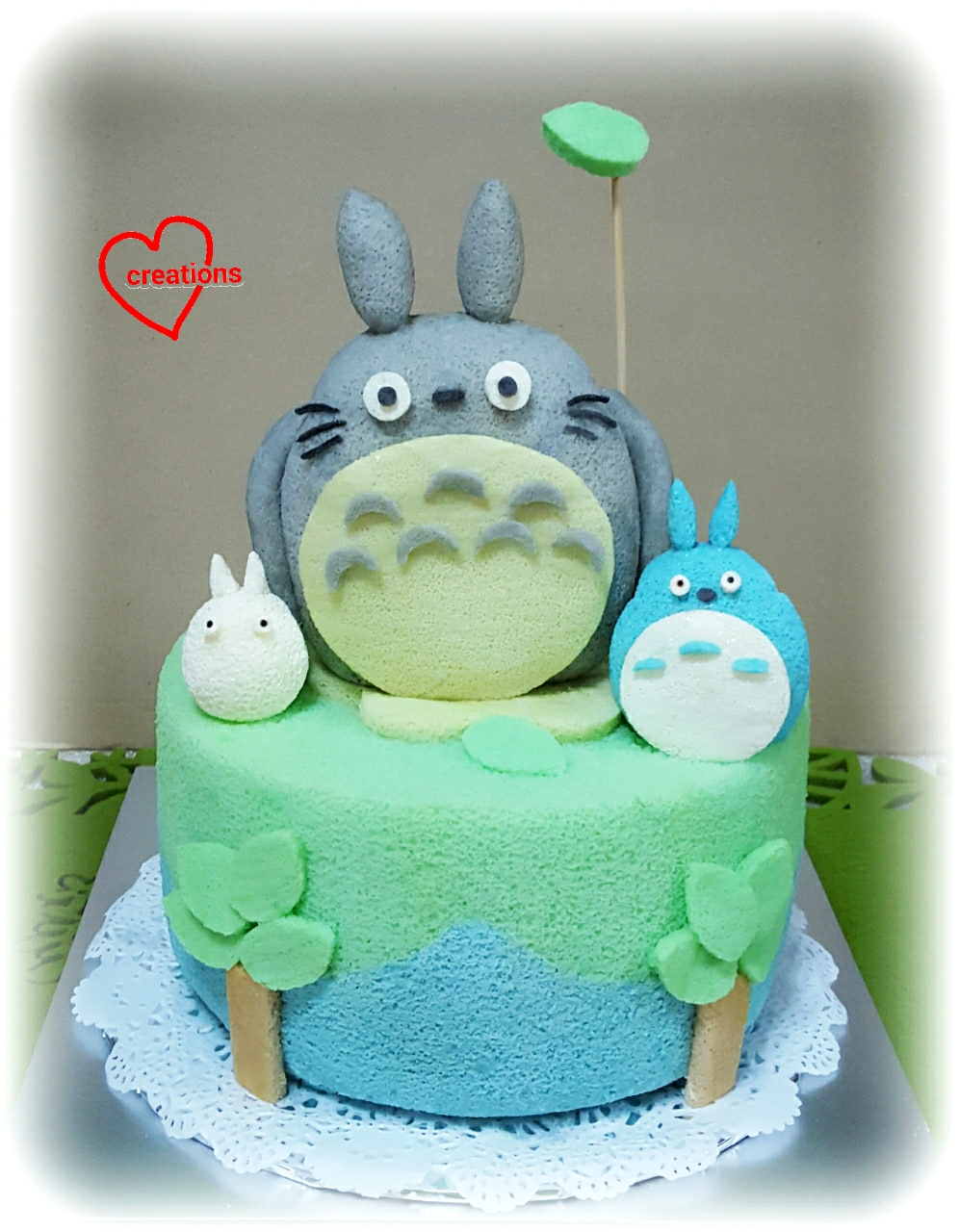 Loving Creations For You Totoro And Friends Chiffon Cake