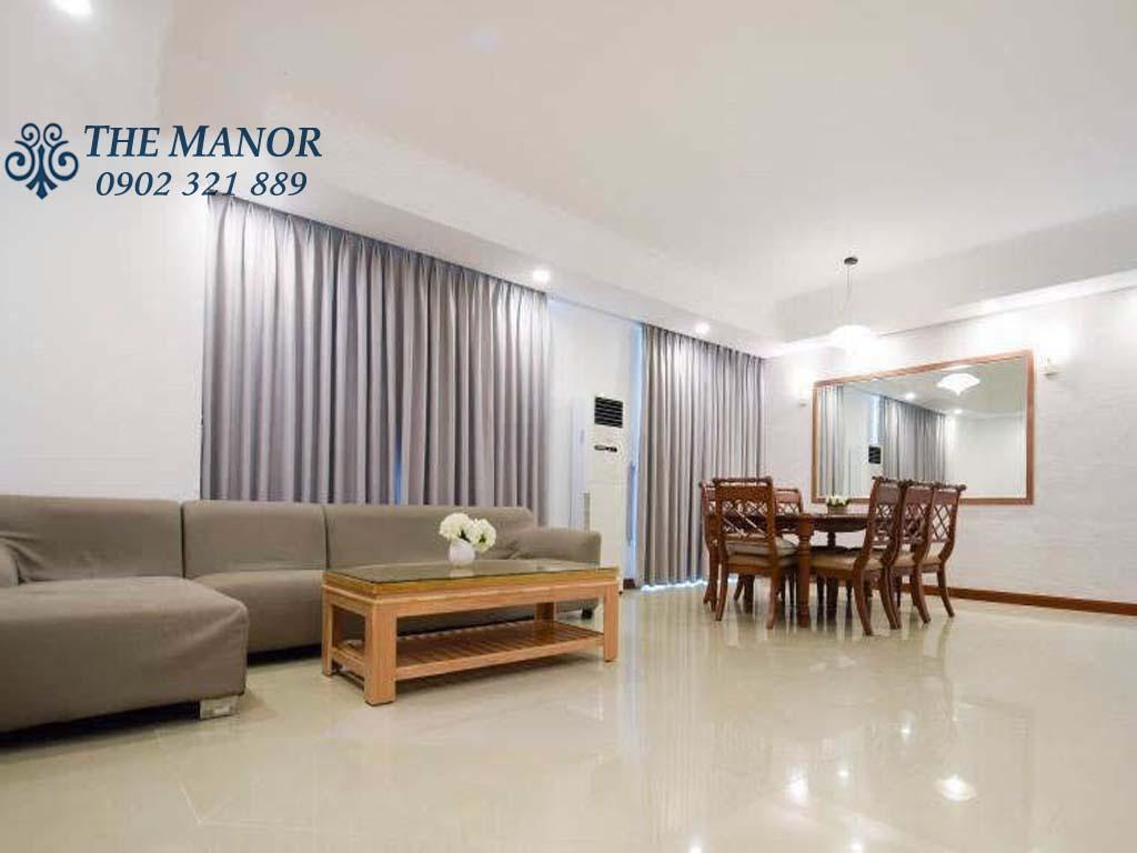 cho thuê căn hộ với 3 phòng ngủ khu The Manor 1 block AW 1400$/tháng - pic 3
