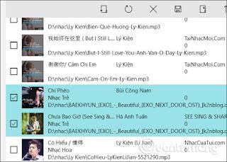 Show music file list