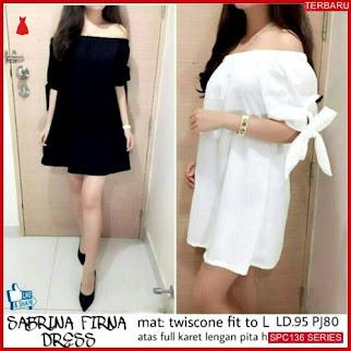 SPC136D40 Dress Firna Twiscone Bhn Dress Wanita | BMGShop