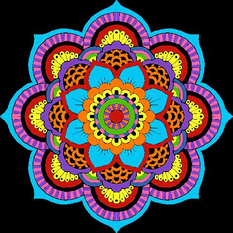 Vector Flower Art Textile Design 2345