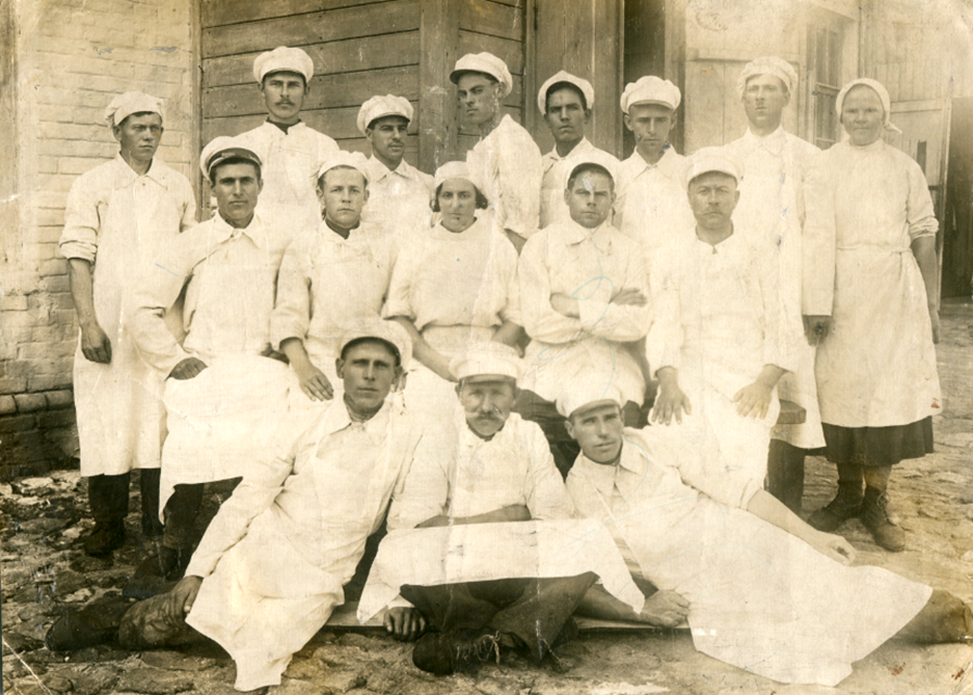 Цех Артемовской колбасной фабрики. 1937 г.